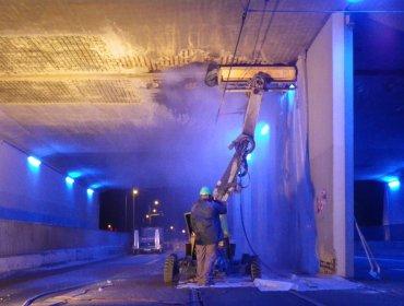 rénovation tunnels avec hydrodémolissuer